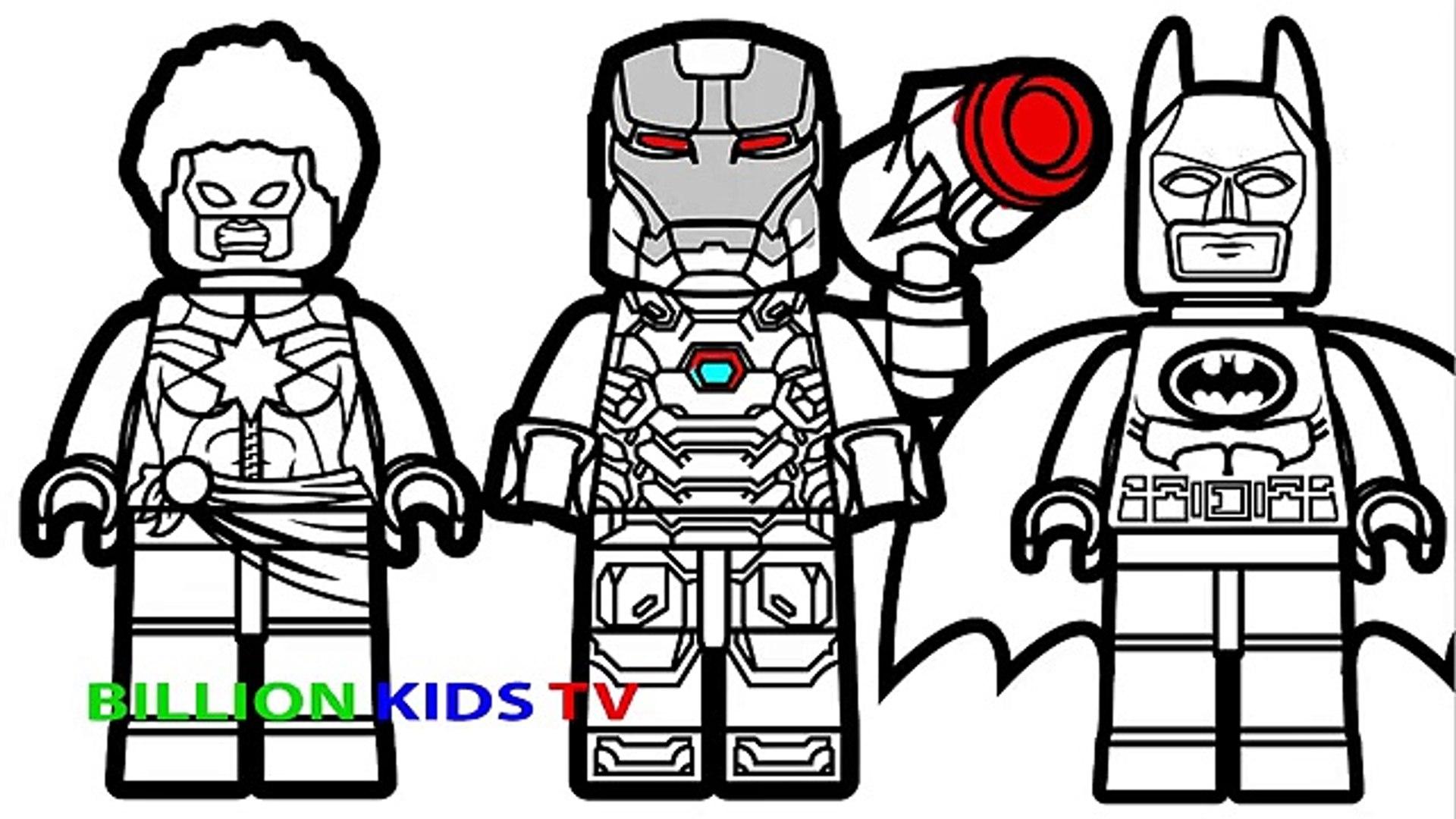 - Lego Batman Vs Lego Captain Marvel Vs Lego War Machine Coloring