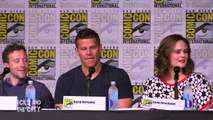 BONES Season 12 Comic Con Panel (Part 1) Emily Deschanel, David Boreanaz, TJ Thyne, Michaela Conlin