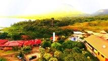 La bella playa Tambor en Costa Rica