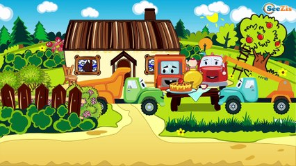 My Red Truck episodes with vehicles | Trucks for kids | Cartoons for children Part 2