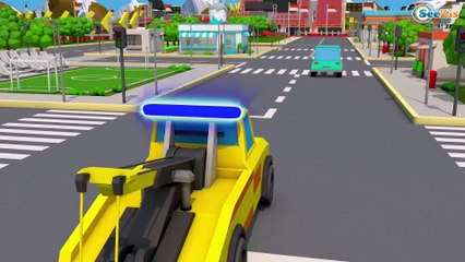 Super Red Truck CRASH on the Road in Trucks City | Trucks Cartoon for kids | Cars & Trucks Stories