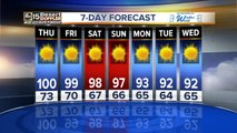 Phoenix to reach 100-degrees on Thursday