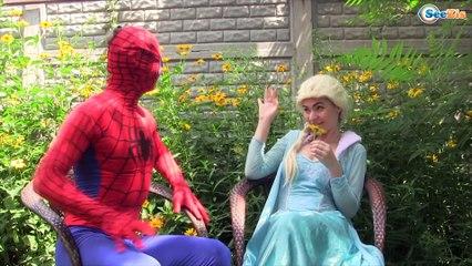 Frozen Elsa MAKEUP PRANK vs Spiderman vs GIRL w/ Pink Spidergirl & Batman in Real Life!