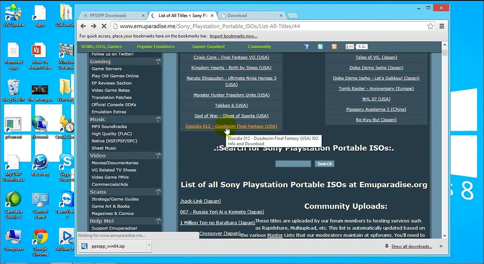 Play PSP games on Windows PC using PPSSPP Emulator