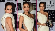 Elle Beauty Awards 2017 : Malaika Arora Flaunts Hot Look In A White See Through Gown