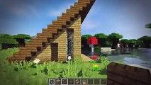 Minecraft: Easy A-Frame House Tutorial - How to Build a