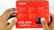 Canon EOS 1300D/Rebel T6 Unboxing & Quick Setup!!! - video