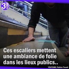 Un escalier Gare Montparnasse transformé en piano géant !