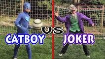 Superhero Soccer IRL Batman vs Joker Soccer Futbol Game - Good Guys vs Bad Guys