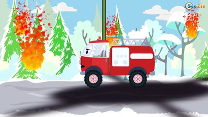 Excavator, Truck, Tow Truck and Crane in Truck City | Trucks cartoons for children Part 2