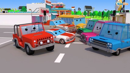 Cartoon for Kids The Fire Truck - Car Rescue 3D Cartoon for toddlers   Cars & Truck Stories