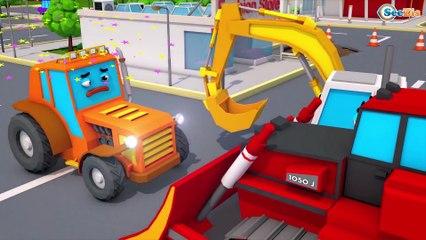 Novo Caminhão e Trator para Crianças - Jogo na cidade   Desenho animado compilação de 20 min carro