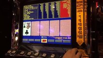Video Poker Slot machine Max Bet LIVE GAMEPLAY in Downtown Las Vegas