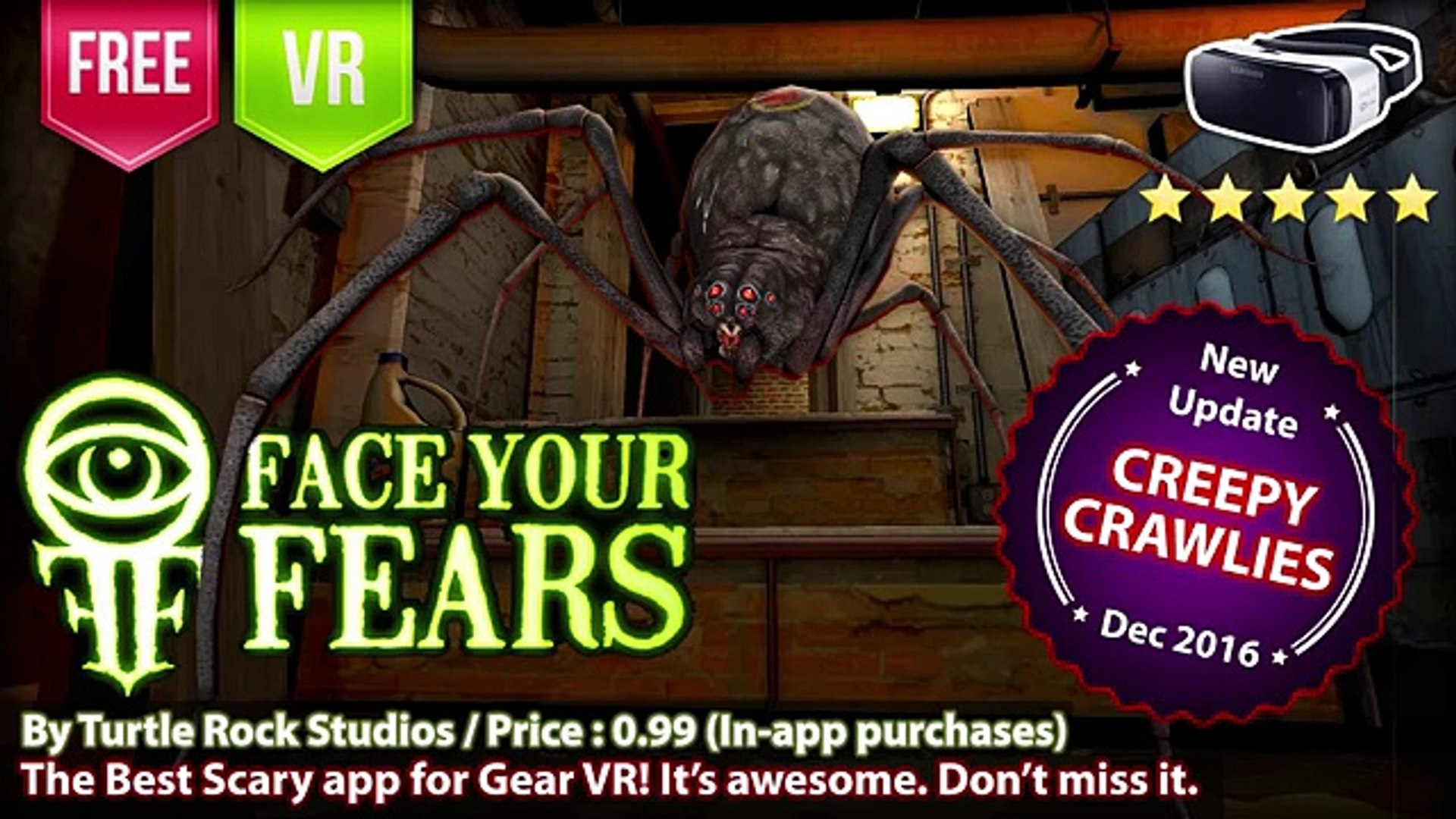 Face Your Fears Spiders Creepy Crawlies The Best Scary VR spiders for Gear  VR