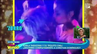 Karla Tarazona recibe fuertes críticas por video donde aparece besando al Zorro Zupe