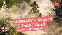 Summary - Truck/Quad - Stage 14 (Córdoba / Córdoba) - Dakar 2018