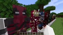 Minecraft SuperHero Mod - Captain America, Iron Man, Flash & Batman (Mod Showcase)