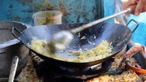 Indian street food.Egg fried rice preparation Egg fried rice stall in Bangalore easy egg rice