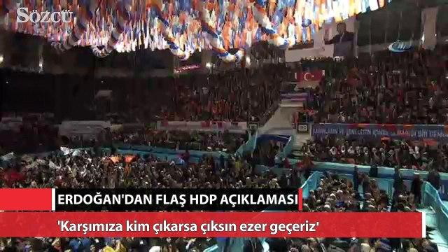 Cumhurbaşkanı Erdoğan'dan flaş HDP açıklaması