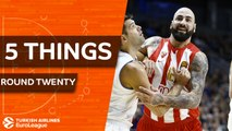 Turkish Airlines EuroLeague, Regular Season Round 20: 5 Things to Know