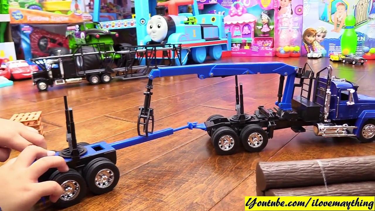 Diecast Toy Trucks! Semi Hauler Trucks. Kenworth and Mack Unboxing. RC TANK Playtime