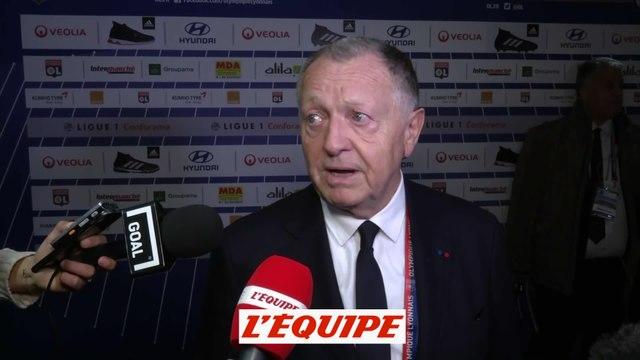 Foot - L1 : Jean-Michel Aulas (Lyon) «L'arbitre a bien tenu le match»