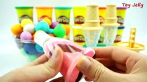 Spoon Pudding Recipe DIY How To Make Rainbow Spoon Milk Jelly Colors Bent Play Doh Clay Ice Cream