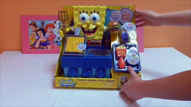 Little Kelly - Toys & Play Doh  - Spongebob Krabby Patty Maker ( Bikini Bottom, Patrick, Spongeb