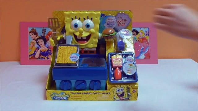 Little Kelly - Toys & Play Doh  - Spongebob Krabby Patty Maker ( Bikini Bottom, Patrick, Spongebob)
