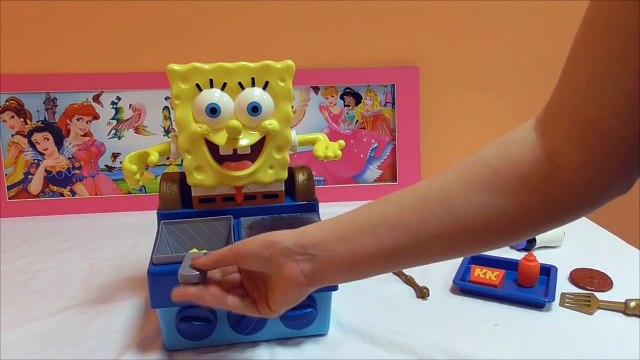 Little Kelly - Toys & Play Doh  - Spongebob Krabby Patty Maker ( Bikini Bottom, Patrick