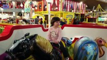 Baby Mizneh Playing With  A Horse Toys In AFI Mall Fun Indoor Playground For Kids