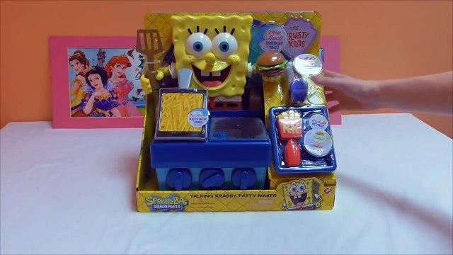 Little Kelly - Toys & Play Doh  - Spongebob Krabby Patty Maker ( Bikini Bottom, Patrick, Sp