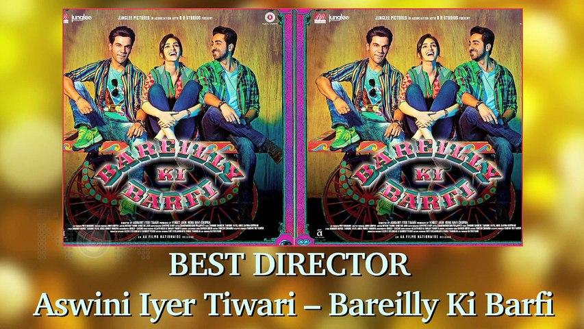 Filmfare Awards 2018 Winners - Irrfan Khan, Rajkummar Rao, Vidya Balan