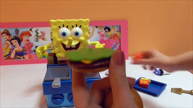 Little Kelly - Toys & Play Doh  - Spongebob Krabby Patty Maker ( Bikini Bottom, Patrick, Spong