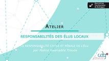Rencontres territoriales de Bretagne - Les responsabilites des elus locaux (échanges)