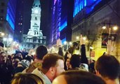 'Fly, Eagles Fly' - Philly Fans Sing Their Hearts Out in Front of City Hall