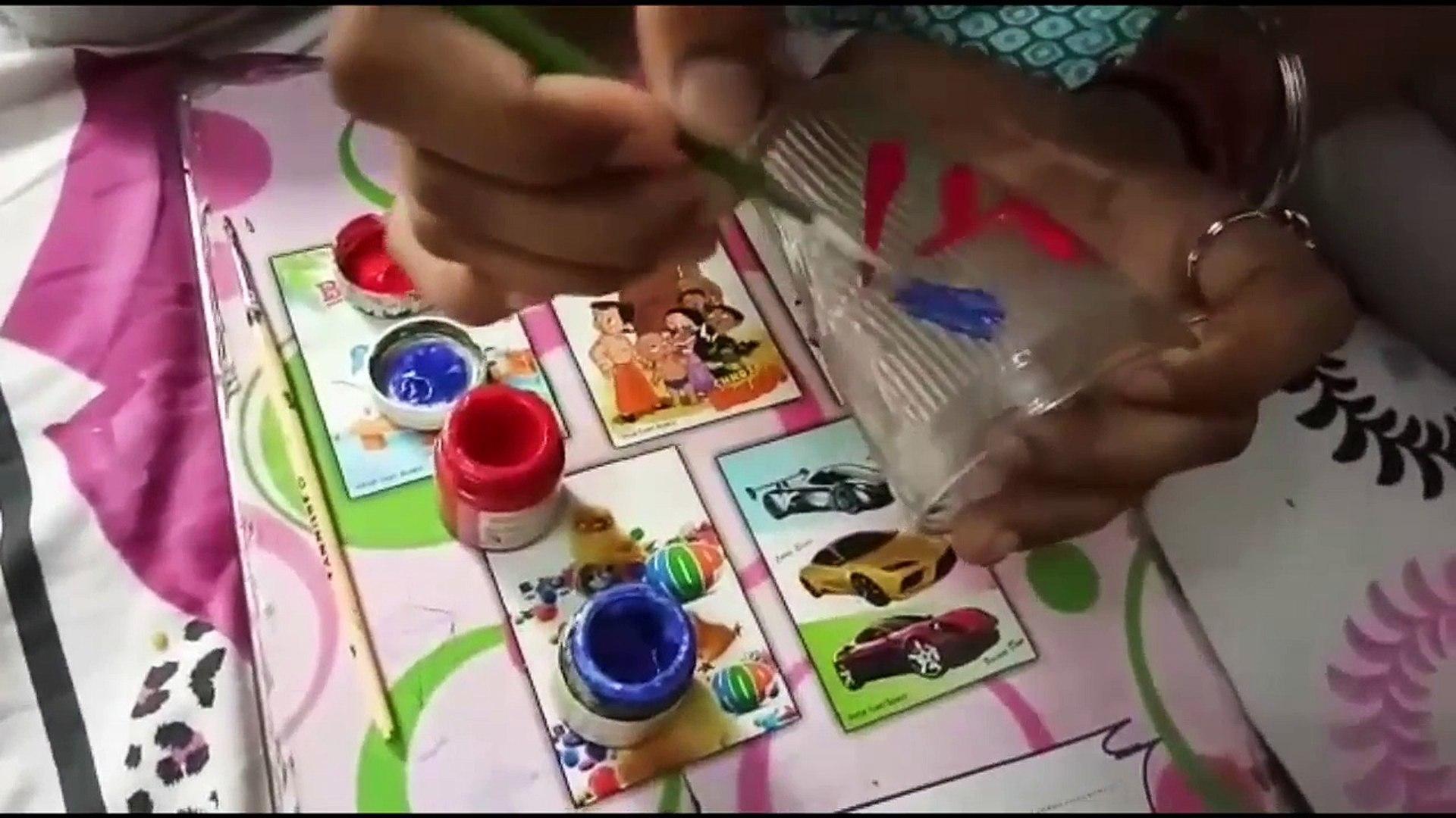 DIY - Make Designer Glass at Home - Kids Creative Activity