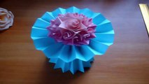 How To Make A Paper Flower Vase Very Easy And Simple Way Video
