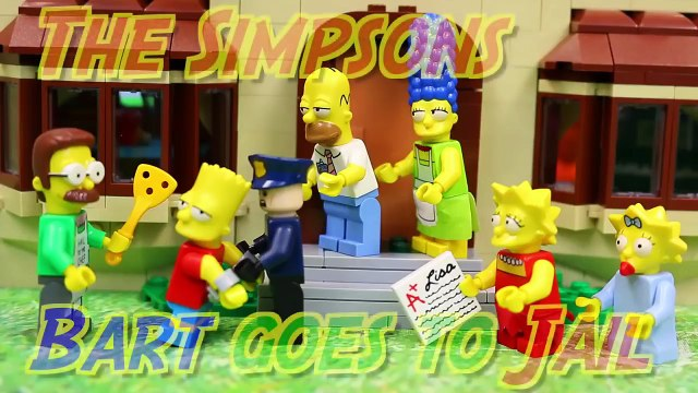 Lego Simpsons Bart Gets Caught in the Simpsons House Set