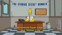 """Simpsons falha ao vivo e Homer pede """"desculpas em Dobro"""" ao Brasil."""