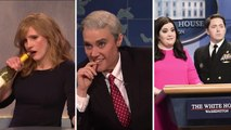 'SNL' Rewind: Jessica Chastain Hosts, Kate McKinnon Plays Mueller, Trump's Physical Mocked | THR News
