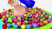 Baby and Colored Balls - FUN Indoor Playground - Learn Colors with The Ball Pit