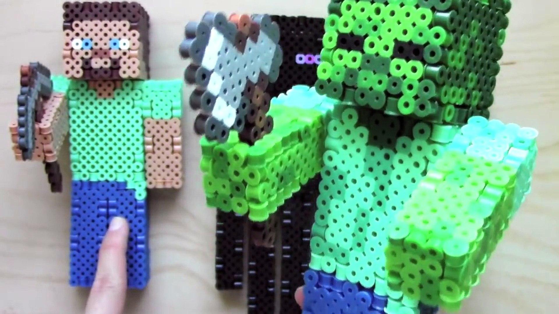 3d Perler Bead Minecraft Zombie Figure Full Tutorial