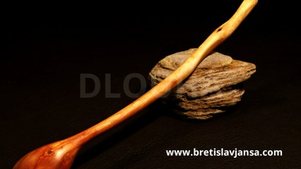 DLOUHÁ - Original Hand Carved Spoon by Břetislav Jansa