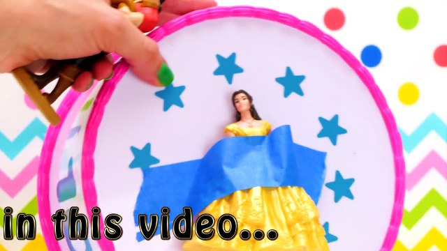 Beauty and The Beast Movie Cake Toy Surprise Game Belle Beast Lumiere Cogsworth Gaston Toy Surprises