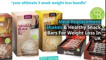 Meal Replacement Shakes and Snack Bars For Weight Loss
