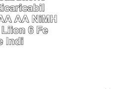Odec Caricabatterie per Pile Ricaricabili N AAAA AAA AA NiMH