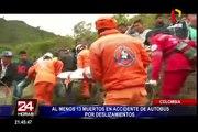 Colombia: accidente de autobus dejó al menos trece muertos