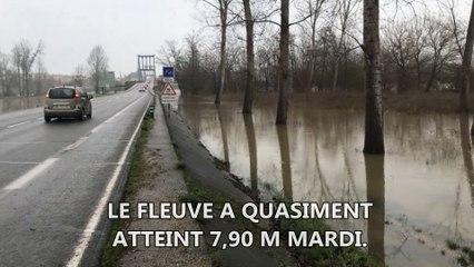 La Garonne en crue à Marmande (47)