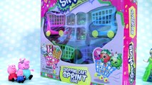 Anna Elsa & Belle Shopping For Shopkins Shopping Cart Sprint Game NEW CARTS 2016